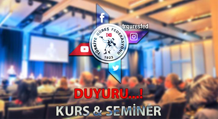 Türkiye Güreş Federasyonu Online Uzaktan Eğitim Semineri Duyurusu